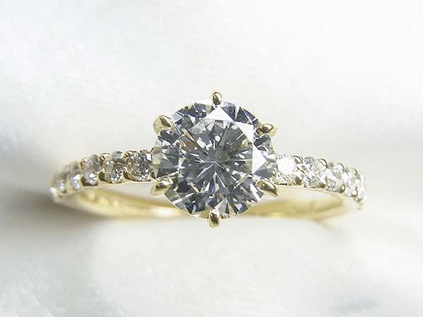お母様の0.5ctUPダイヤモンドをK18製ご婚約指輪へリフォーム【神戸 元町】