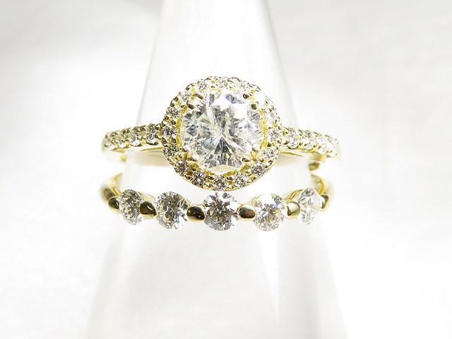 3ストーンダイヤリングを3つにリフォーム【神戸 元町】