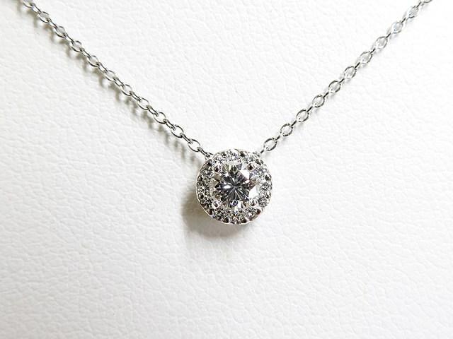 立爪0.2ctダイヤをメレダイヤ取巻きリングへリフォーム