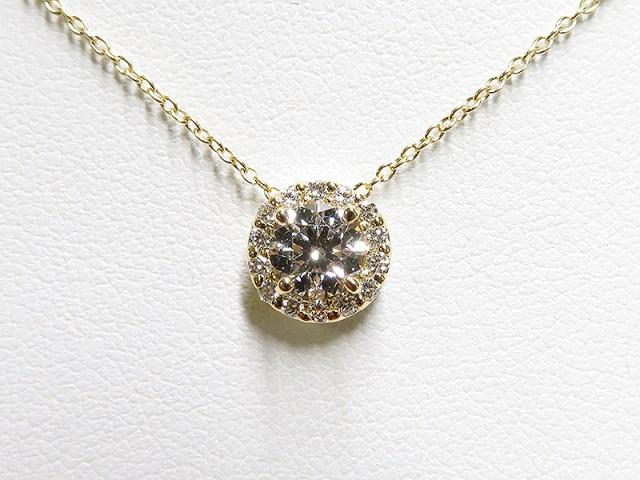 0.5ctダイヤでメレダイヤ取巻きペンダントネックレスのご注文