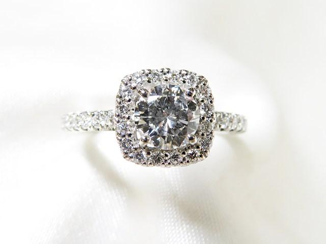 立爪の指輪*0.5ctダイヤモンドリフォーム