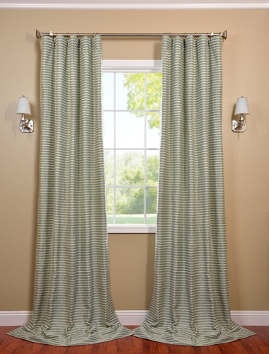 Use cotton drapes in a doorway for privacy