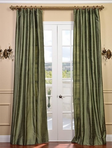 Silk drapes can add luxury to your screened-in porch