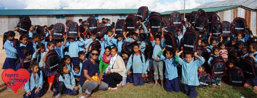 Schülerhilfe in Sindhupalchowk Schultaschen 4