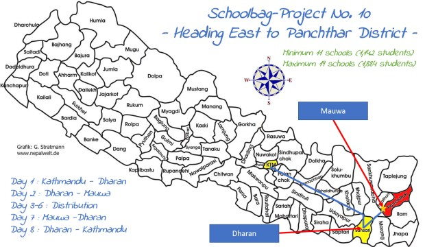 Unsere Route nach Panchthar