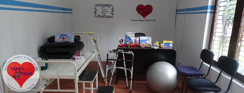 Neues Ärztezimmer in der Behindertenschule