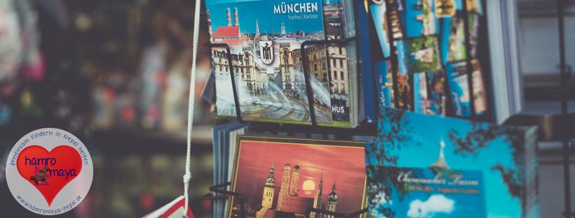 Aktion: Postkarten aus Deutschland für unser Patenkind Manita.