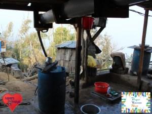 Unsere Waschstelle während des 10.Projekts in Panchthar.