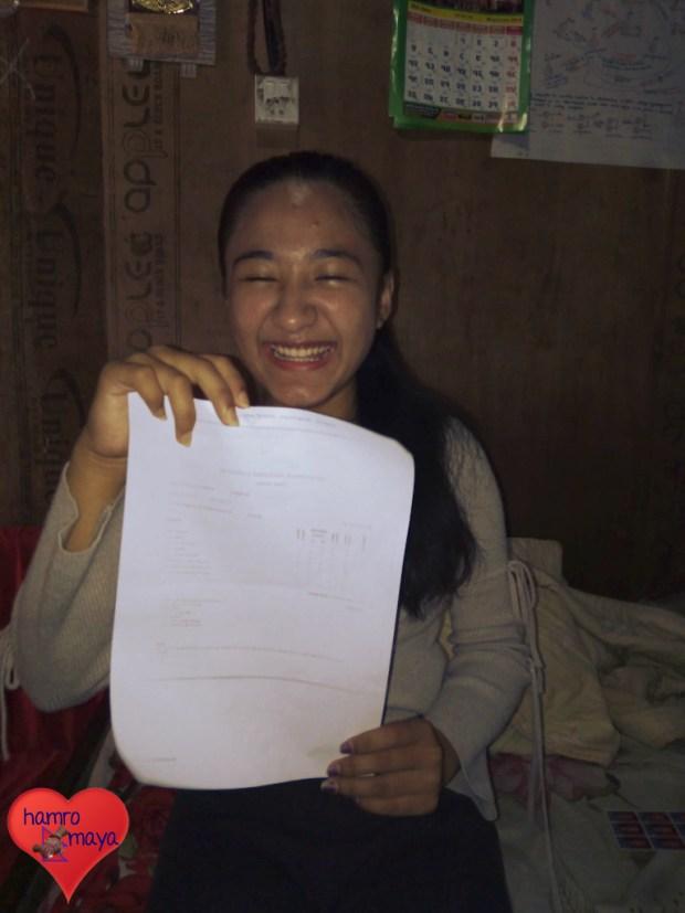 Herzlichen Glückwunsch zum Schulabschluss, liebe Pasang!