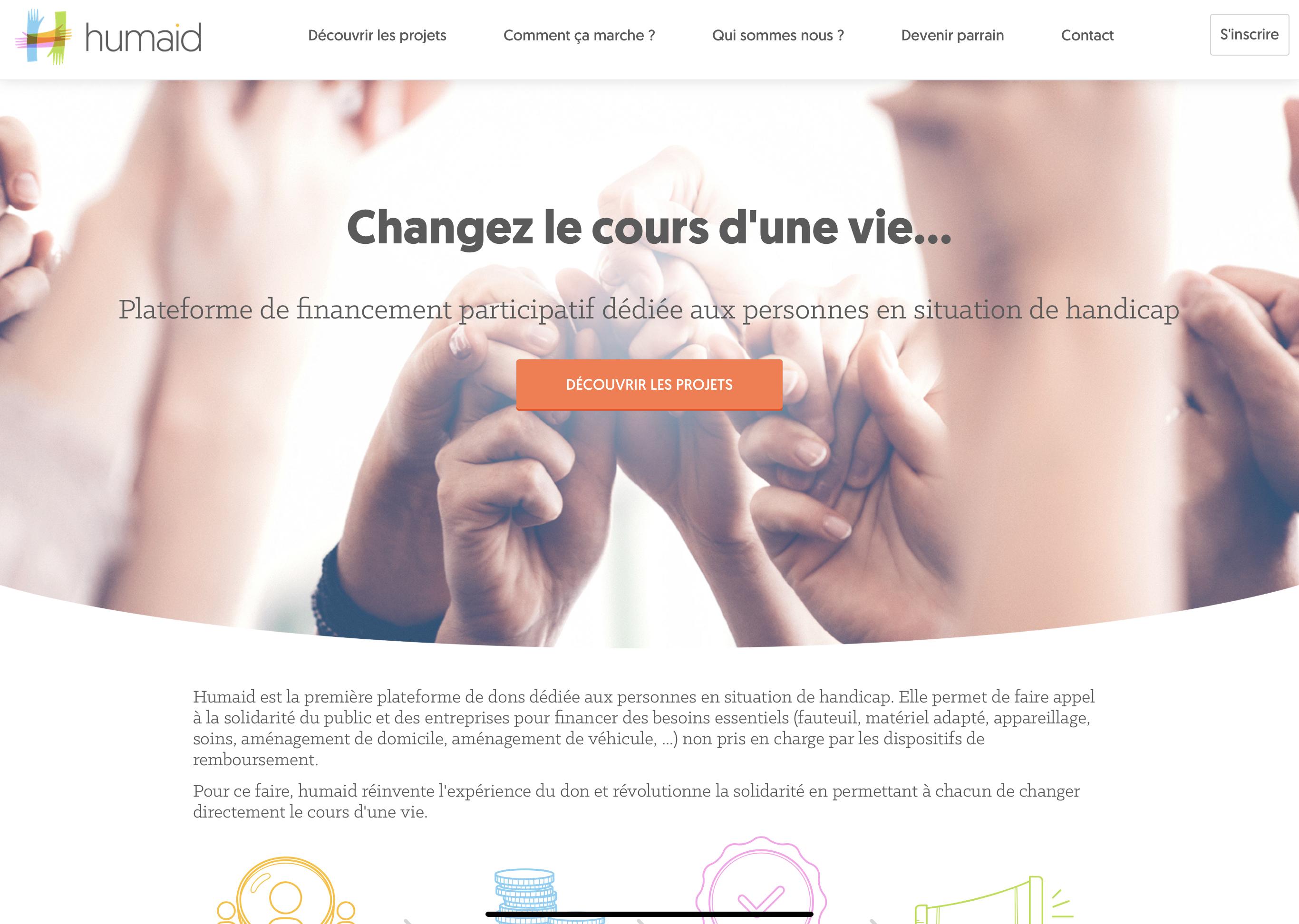 Read more about the article HUMAID : LE CROWDFUNDING AU SECOURS DU HANDICAP
