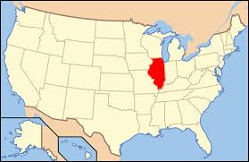 illinois map on the us map