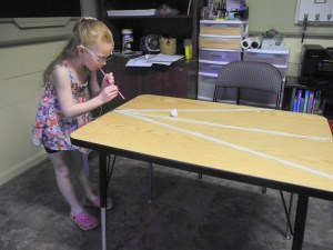 The Cotton Ball Game helps build efficient visual skills.