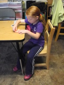 Poor posture is never acceptable for learning!