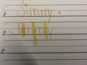 """""""I can  use spaghetti after each letter as I write it. Now I can be sure I leave enough space!"""""""