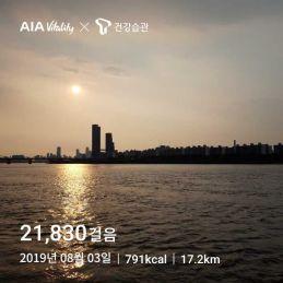 매일 2만보 - 20190803