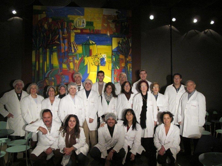 Foto del grupo que visitamos la fábrica de cerveza La Zaragozana