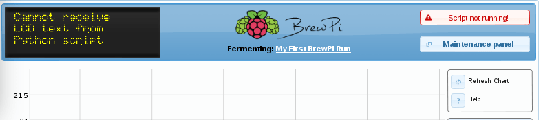 Brewpi - Maintenance Panel