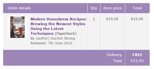 Modern Homebrew Recipes - Order