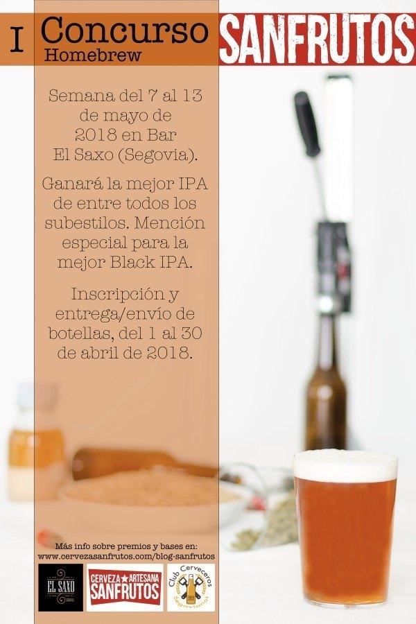 Cartel I Concurso Homebrew Sanfrutos