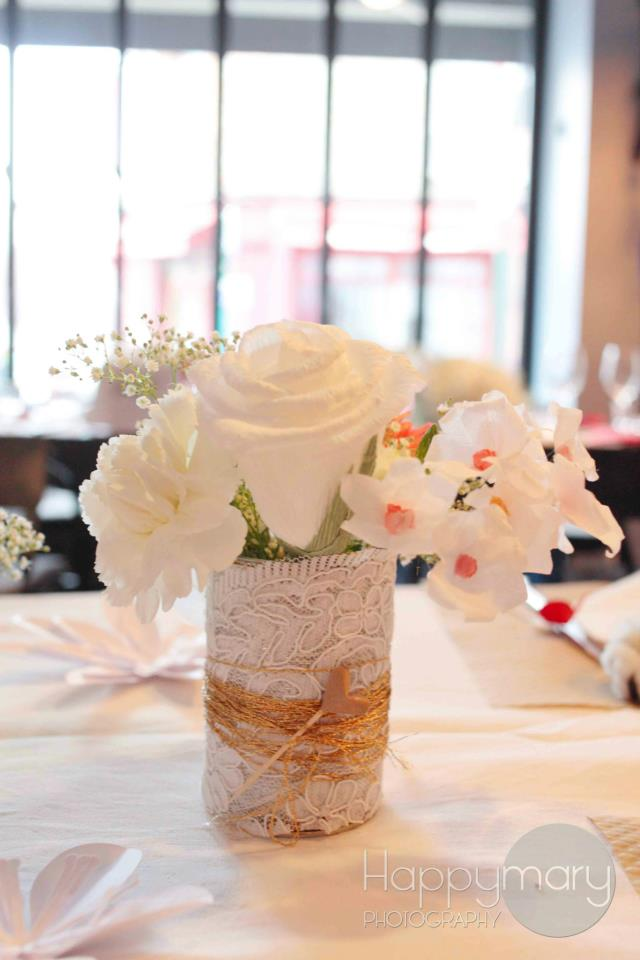 Decoration Londres Rose : Mariage civil notre décoration de table