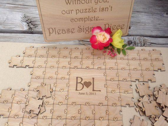 Mariage un livre d 39 or puzzle - Idee livre d or mariage ...