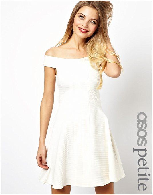 la robe du dimanche robe blanche style bardot existe. Black Bedroom Furniture Sets. Home Design Ideas