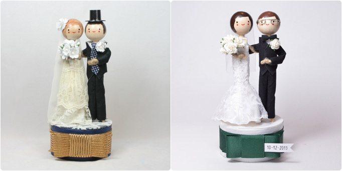 Mariage Des petites figurines cake topper