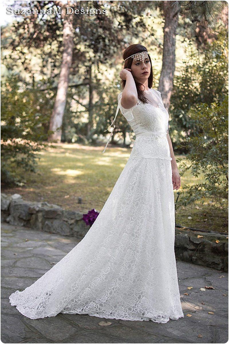 charme de coût 2019 authentique courir chaussures Jolies robes de mariée romantiques et bohèmes - Happy Chantilly