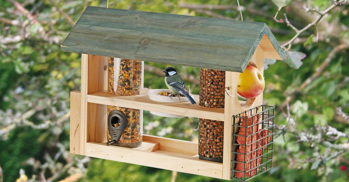 Bird & Wildlife Accessories Deluxe Bird Feeder Seed Nuts Suet Fat Ball Wild Bird Feeding Station Donut Shape Home & Garden