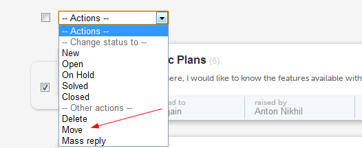 Dropdown Options
