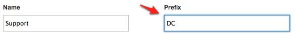Editing a Ticket Prefix