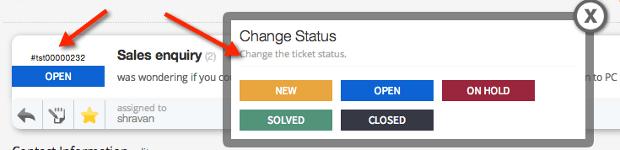 Ticket Status Prompt