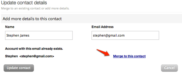 Merging Contacts based on Email Address
