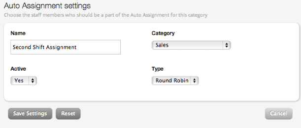 Creating an Auto Assignment