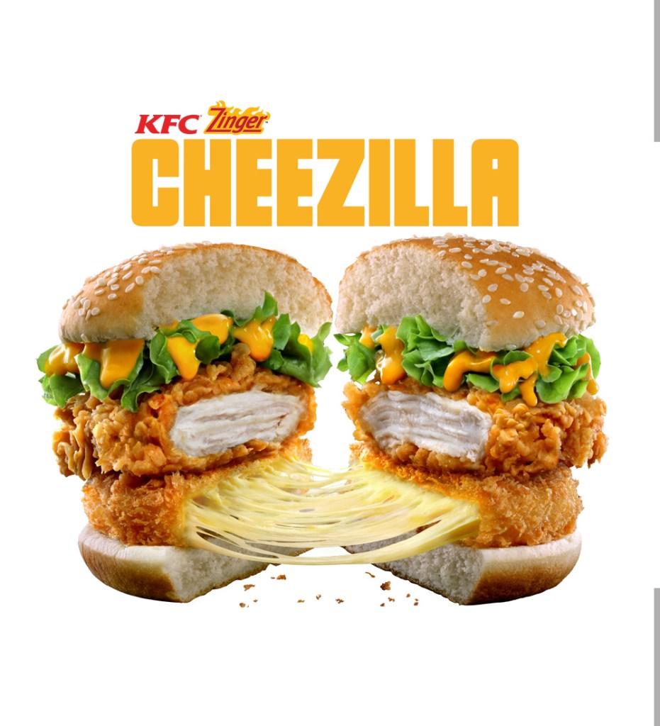 Cheezilla zinger KFC
