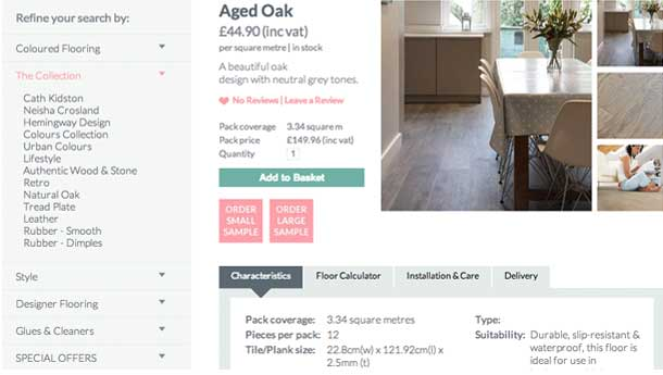 Aged Oak product page