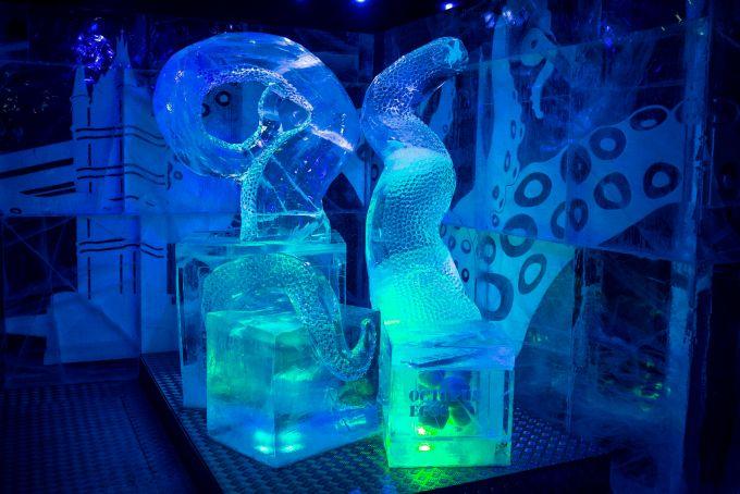 ice sculpture at Icebox Mayfair