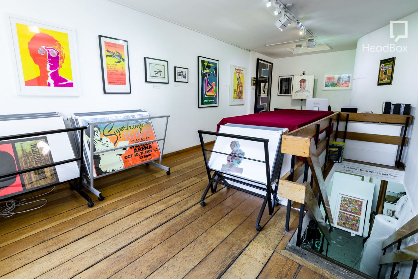 A movie poster art gallery in Fitzrovia