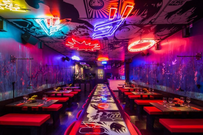 venue hire liverpool with neon lighting
