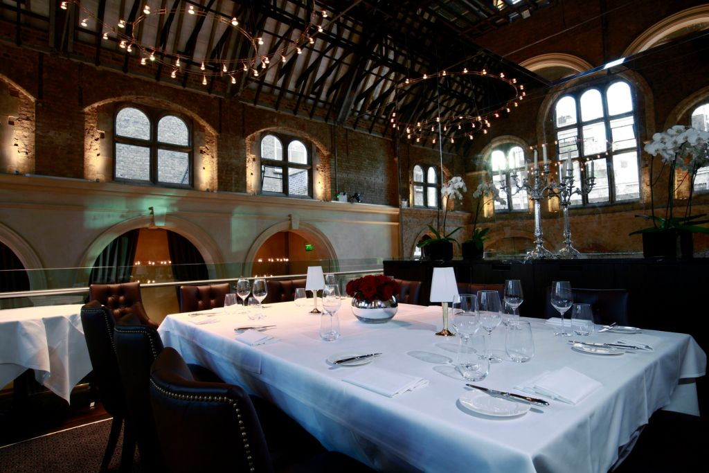 A stunning private dining table on the mezzanine level of the restaurant.