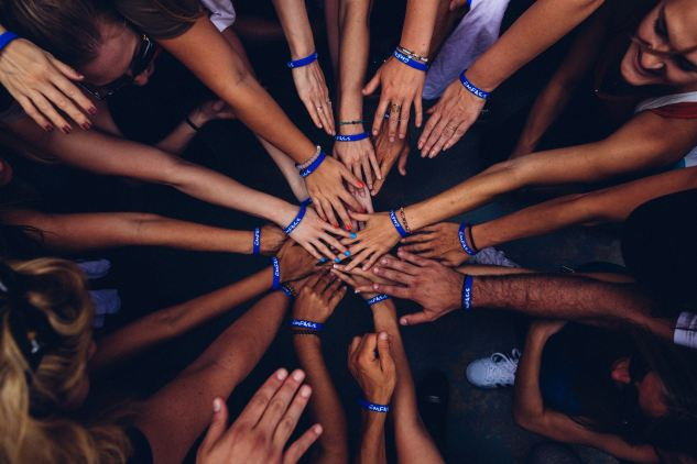 image of a large group hands