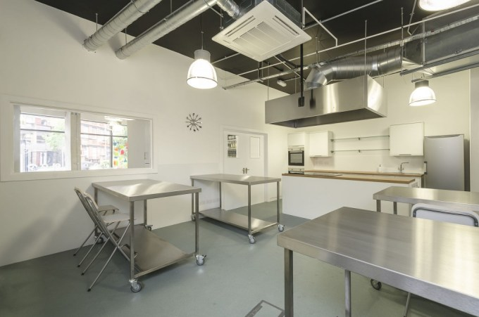 kitchen Space with four stainless steel