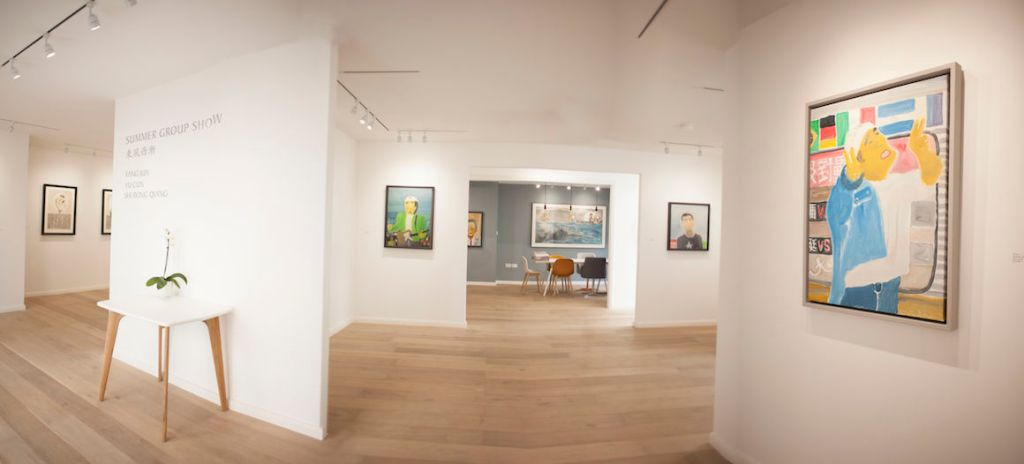 white gallery space at arthill gallery