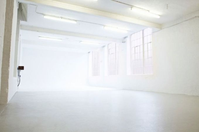 large white room with high ceilings