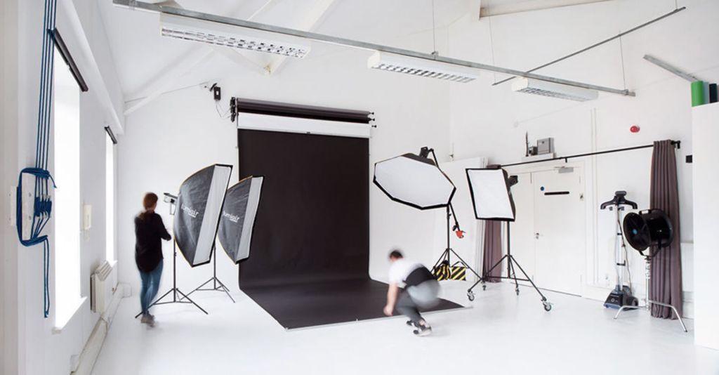boutique studio with black backdrop