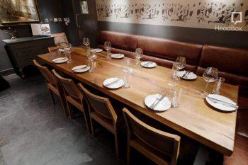grey tile dining room at dehesa