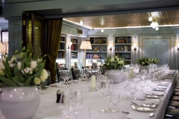 long dining table at bentley's london