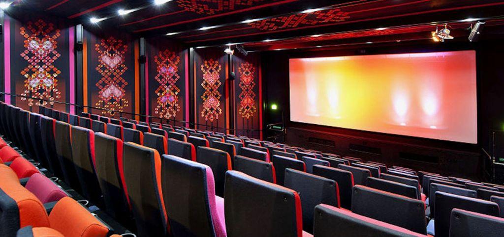cinema room with stadium style seating