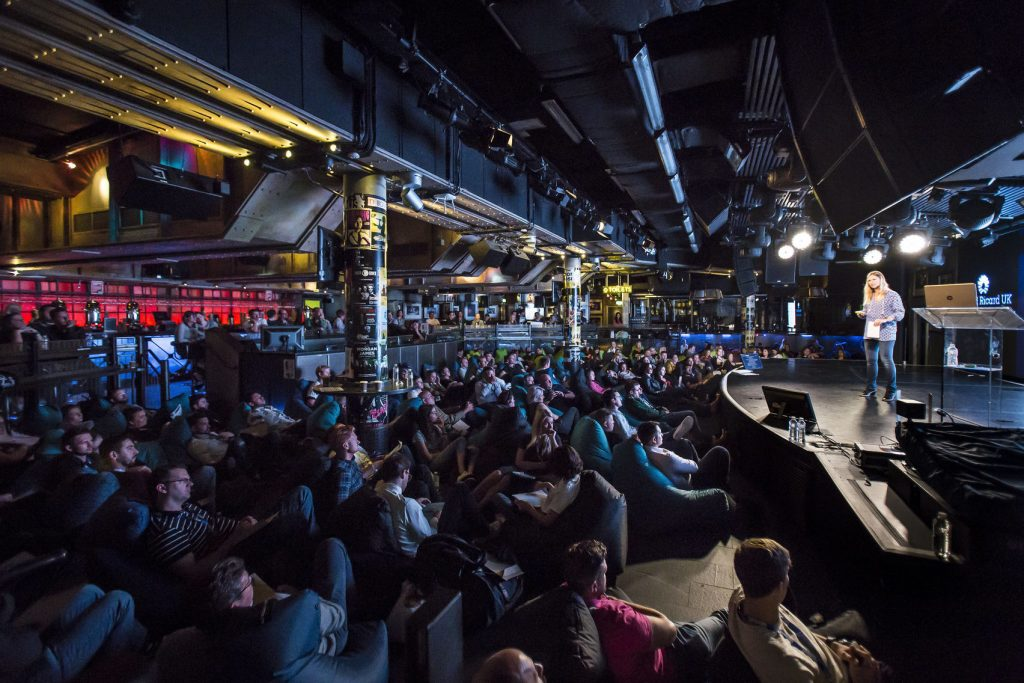 dark crowded unusual conference venues
