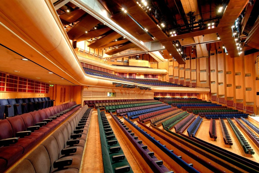 A large auditorium at the Barbican in London